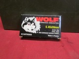 (920) Wolf 5.45x39mm Cartridges w/ Metal Ammo Can