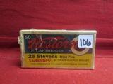 (50) Western .25 Stevens Rim Fire Cartridges