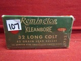 (50) Remington Kleanbore .32 Long Colt Cartridges