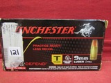 (50) Winchester 9mm Luger Cartridges