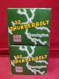 (1000) Remington 22 Thunderbolt .22LR Cartridges