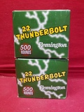 (1000) Remington 22 Thunderbolt .22LR Cartridges