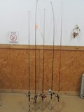 (5) Assorted Fishing Rod & Reels