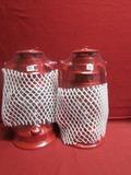 (2) Red Kerosene Lantern ** NEW **