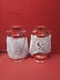 (2) Red Kerosene Lantern ** NEW **