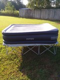 Queen Intex Air Mattress w/ Metal Frame ** Used **