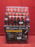 26 PC Screwdriver Set w/ Rack ** NEW **