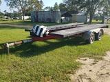 7ft x 15ft Car Hauler Bumper Pull Trailer