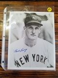Hank Borowy Autographed Baseball Picture