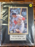 Stan Musial 1969 Hall Of Fame Autographed