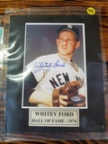 Whitey Ford 1974 Hall Of Fame Autographed