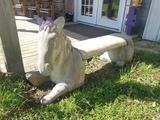 Concrete Horse Bench