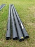 (4) 22ft L x 6in ID Black Pipe