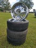 (4) R20 Rims W/ (3) 245/40 R20 Tires