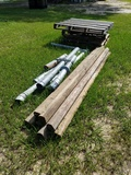 (7) 8ft Landscape Timber, Metal Exhaust Pipe &