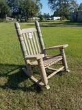 Dedeaux Clan Wooden Rocking Chair