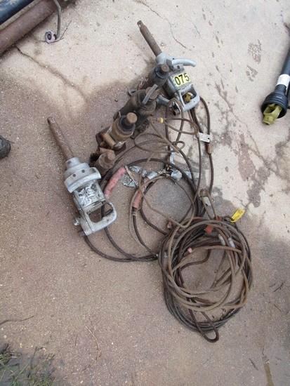 "(5) Cable Chokers, 4 bottle jacks, (2) 1"" impact"