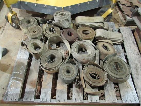 Pallet of winch straps