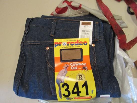 Part of Wrangler Cowboy Cut jeans 42x30