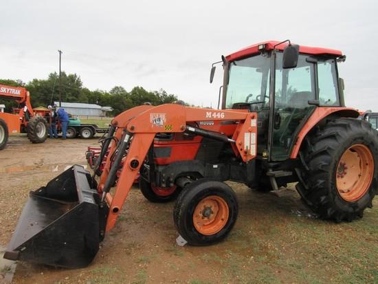 Kubota M9000 w/Bush Hog M446 loader