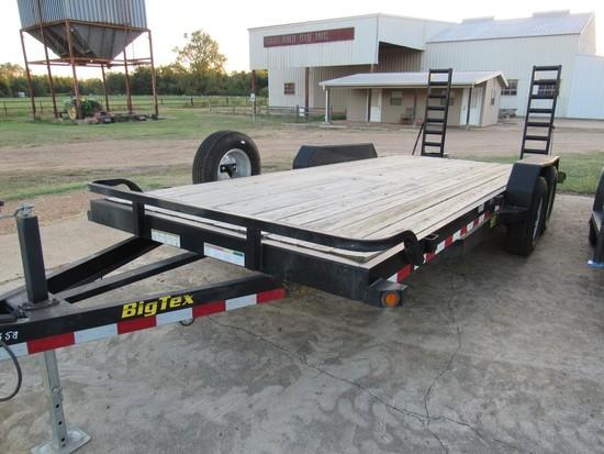 2014 Big Tex 12ET-20BK bumper pull trailer