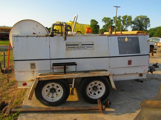 Shamrock Pipe Tools sewer cleanout machine