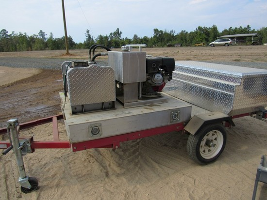 Hyd Winch with Tool Box on Trailer