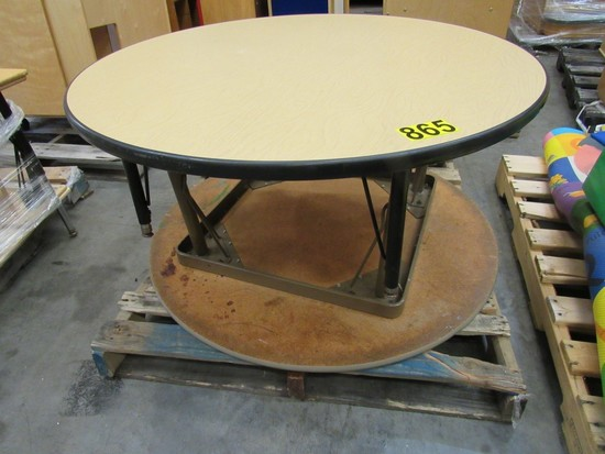 "(2) 41"" Round tables"