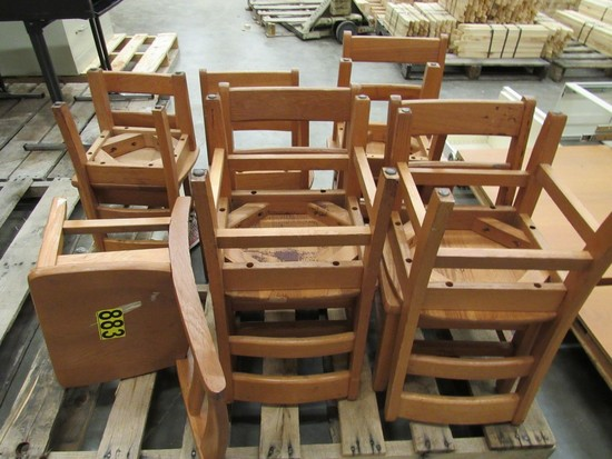 Wooden kid's chairs