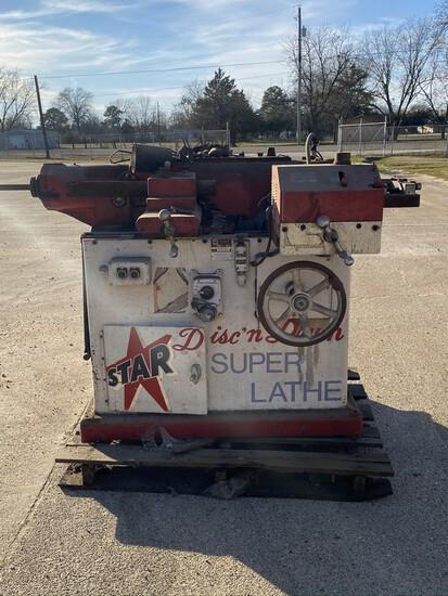Star Machine & Tool Brake Lathe