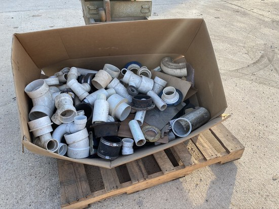 Lot of misc plumbing pvc and seat belt parts