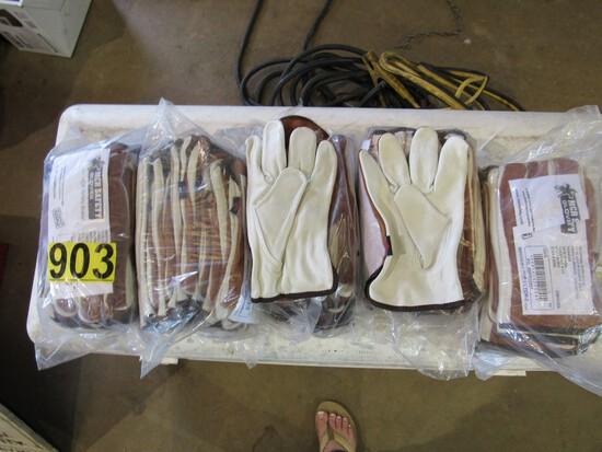 (5) Bundles of leather gloves