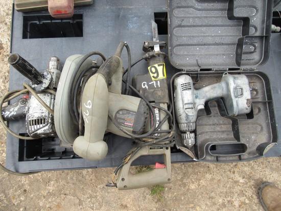 Impact 3/4, elec drill, B&D cordless drill