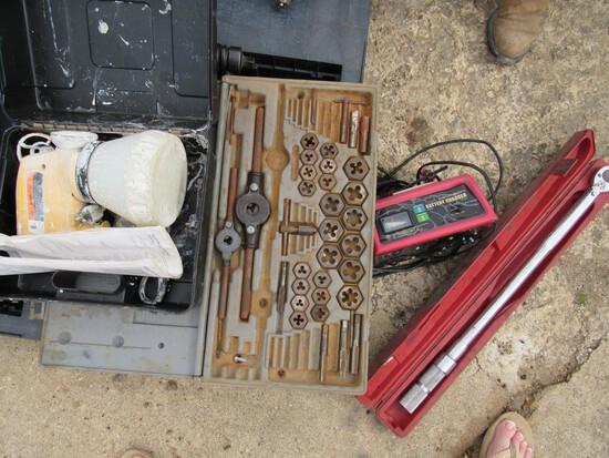 Torque wrench, tap & die set, paint sprayer
