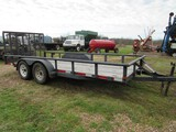 16' PJ dual tandem axle trailer w/dove tail