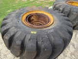 2 Goodyear 28 RX tires w/wheels 29.5-25