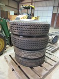 Unused 235/75R/17.5 tires on bud wheels (set of 4)