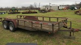 16' Trailer A-A Welding Service MFG - No Title