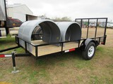 Utility trailer with ramp gate 6 1/2' x 122
