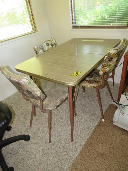 Chrome table & 3 chairs