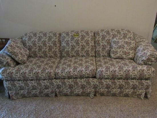 Floral print sofa