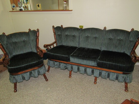 Tell City matching sofa & chair