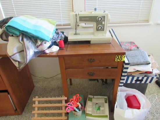 Kenmore sewing machine w/fabric