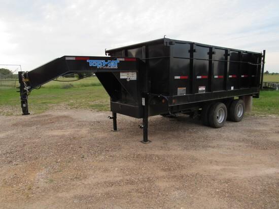 2017 Top Hat 20' hydraulic dump trailer
