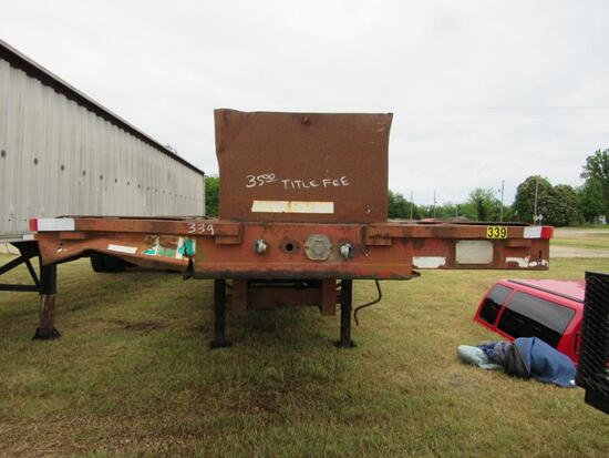 1980 Transcraft TX20-42 drop deck trailer w/TITLE