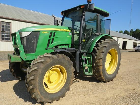 John Deere 6105D MFWD Cab tractor