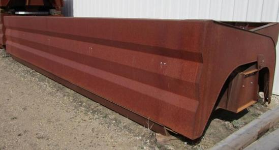 side dump boxes without running gear, 8 ft x 22 ft