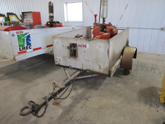 Shop built 4' x 6' trailer w/15000 watt Phase 1 Generator, 115/230V, 65 amp, 4 cyl.gas Wisconsin