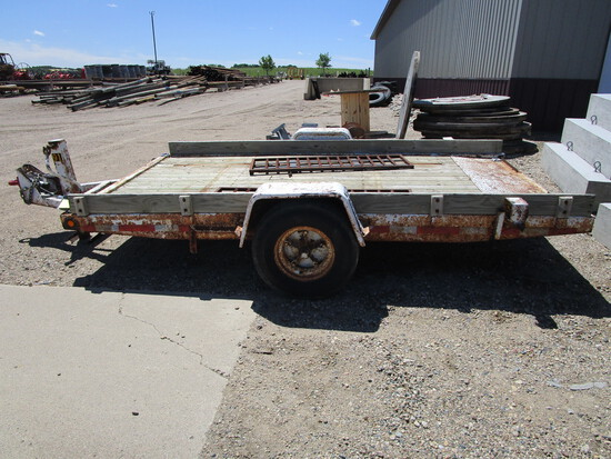 Shop built 6' x 12' single axle trailer w/ramps, l and pintle hitch