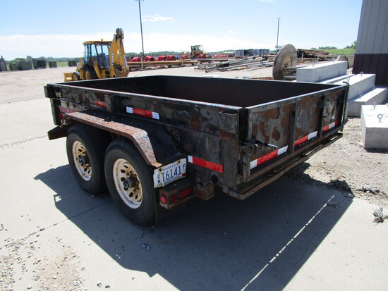 "Midsota ""Versa Dump"", 6' x 10' tandem dump trailer w/sides, w/pintle and 2 5/16 ball"